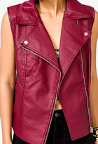 Forever 21 Faux Leather Moto Vest