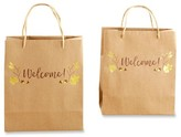 "Kate Aspen Gold Fall ""Welcome"" Gift Bag - 12 Count"