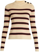Etoile Isabel Marant Devona striped long-sleeved top