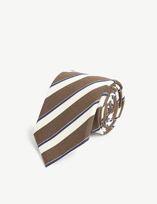 Bigi Cravatte Contrast silk blend tie