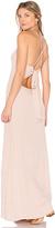Flynn Skye Adaline Maxi Dress in Beige. - size M (also in S,XS)