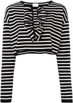 Circus Hotel striped crop jumper - women - Cotton/Merino - 42