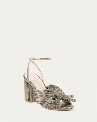 Loeffler Randall Camellia Dark Gold Bow Heel