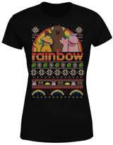 Rainbow Christmas Women's T-Shirt - Black
