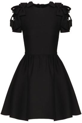 Valentino Bow Applique Mini Dress