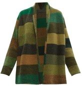 The Elder Statesman Italy Striped Cashmere Cardigan - Womens - Multi