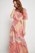BCBGeneration Rug Patchwork Print Maxi Dress