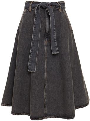 American Vintage Belted Denim Skirt
