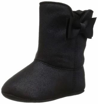 Baby Deer Baby Girls Suede Boot w/Bow Mid Calf