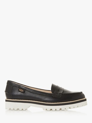 Dune Guinnea Leather Low Heel Loafers