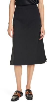 SEVENTY VENEZIA Chiffon Pleat A-Line Skirt