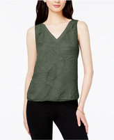 Bar III Textured V-Neck Top, Created for Macy's