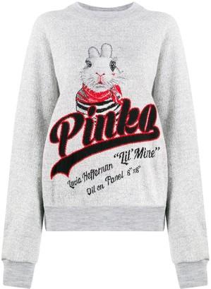 Pinko logo rabbit jumper