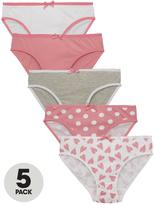 Very 5PK HEART STRIPE BRIEFS