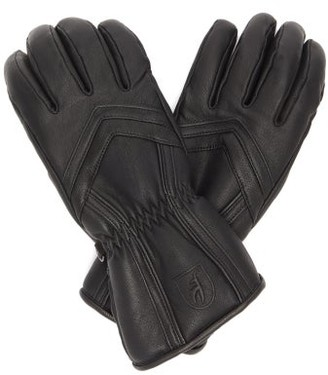 Toni Sailer Leyla Panelled Leather Ski Gloves - Black