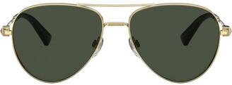 Valentino Eyewear Rockstud detail aviator sunglasses