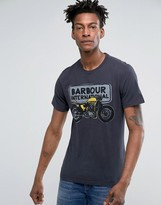 Barbour International Sketch Slim Fit Motorbike T-shirt Navy