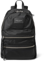 Marc Jacobs Leather-trimmed Nylon Backpack - Black
