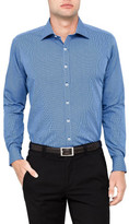 Geoffrey Beene Betony Micro Chek Spot Print Slim Fit Shirt