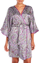 Jones New York Paisley Allure Satin Robe