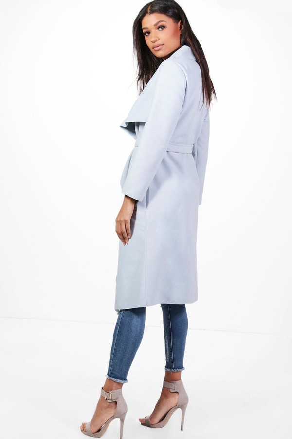 Thumbnail for your product : boohoo Belted Waterfall Coat