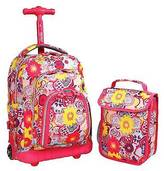 "J World Jworld 16"" Lollipop Rolling Backpack with Lunch Kit - Pink/Purple"
