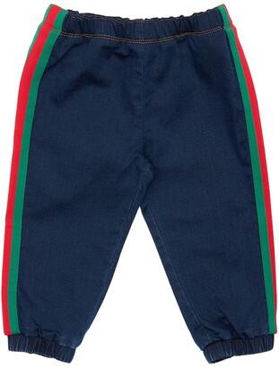 Gucci Cotton Sweatpants Denim Effect
