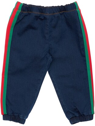 Gucci COTTON SWEATPANTS DENIM EFFECT