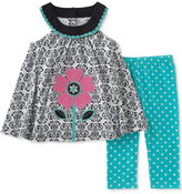 Kids Headquarters 2-Pc. Flower Tunic & Capri Leggings Set, Baby Girls (0-24 months)