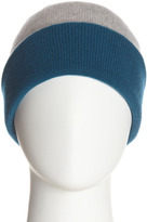 Magaschoni Cashmere Colorblock Hat, Gray/Teal