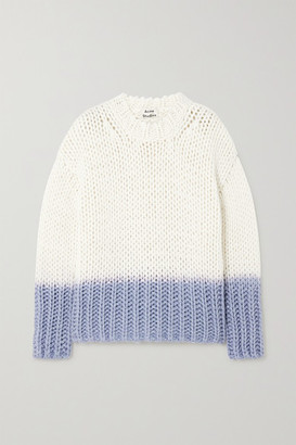 Acne Studios Degrade Knitted Sweater - Off-white