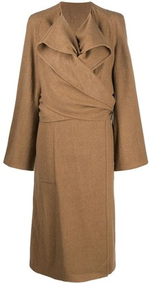 Lemaire Knotted Wool Midi Coat