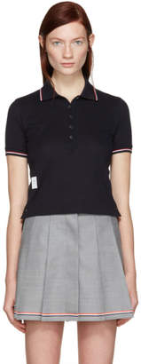 Thom Browne Navy Short Sleeve Polo
