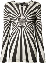 Gareth Pugh long sleeve printed T-shirt - women - Modal - 40