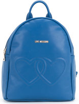 Love Moschino double heart backpack - women - Polyurethane - One Size