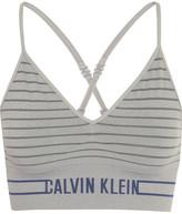 Calvin Klein Underwear Striped Stretch-jersey Soft-cup Bra