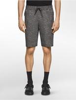 Calvin Klein Platinum Tweed Print Drawstring Shorts