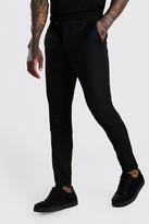 boohoo Mens Black Super Skinny Casual Trouser, Black