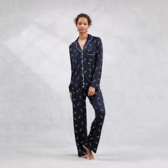 The White Company Shooting Star Pyjama Set, Navy, Large