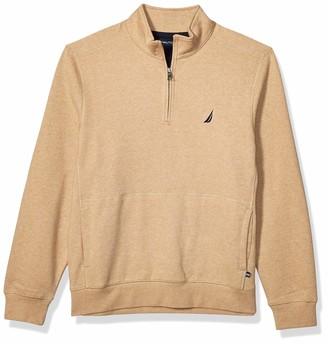 Nautica Men's Classic Fit Quarter-Zip Fleece Pullover