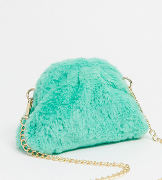 Glamorous Exclusive slouchy pillow mini clutch bag in faux fur