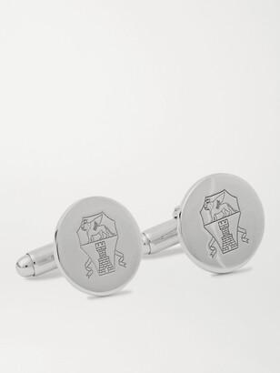 Brunello Cucinelli Logo-Engraved Silver Cufflinks