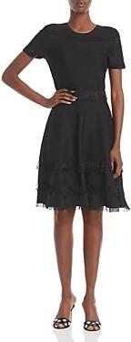 Milly Fringed Trim Dress
