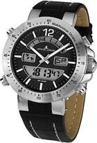 Jacques Lemans Men's Quartz Watch Milano 1-1713A with Leather Strap
