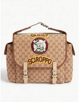 Gucci Sciroppo patch GG canvas backpack