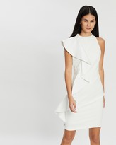 Alice + Olivia Alice & Olivia Stephanie Asymmetric Ruffle Mini Dress