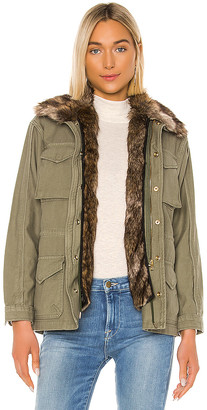 Frame Faux Fur Lined Service Jacket