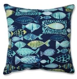"Pillow Perfect Hooked 25"" Outdoor Floor Pillow"