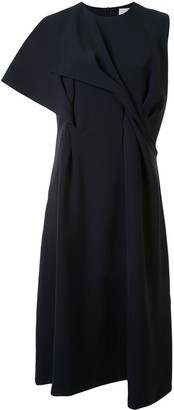 AKIRA NAKA Asymmetric Sleeveless Dress
