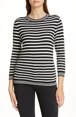 Frame Mixed Stripe Cotton & Cashmere Sweater